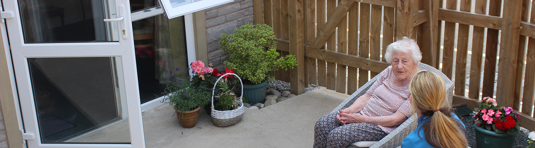 Clitheroe care home private patio