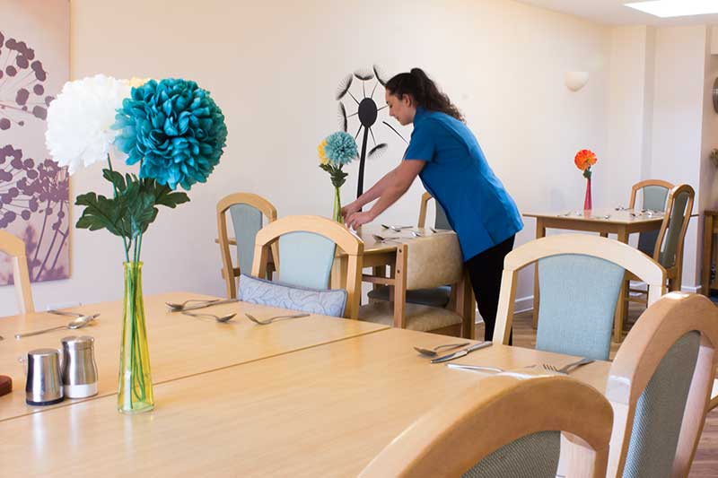 Dining room at High Brake care home in Lancashire