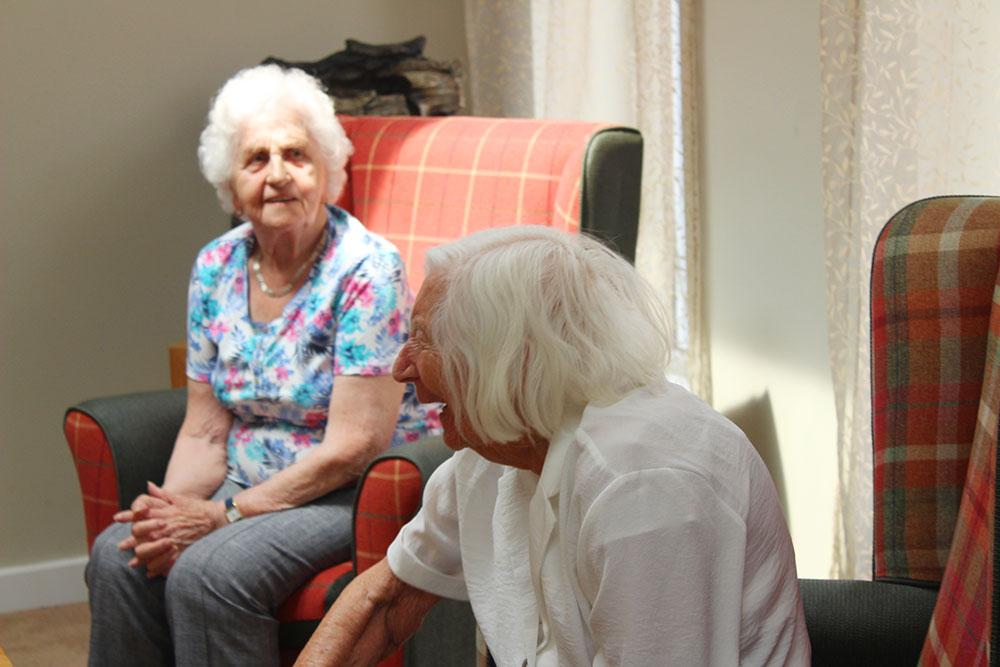 Elderly day care visitors