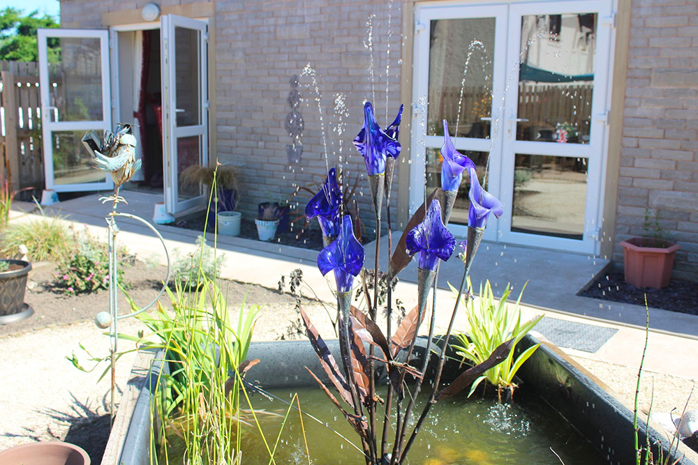 Sensory water feature in High Brake House Garden