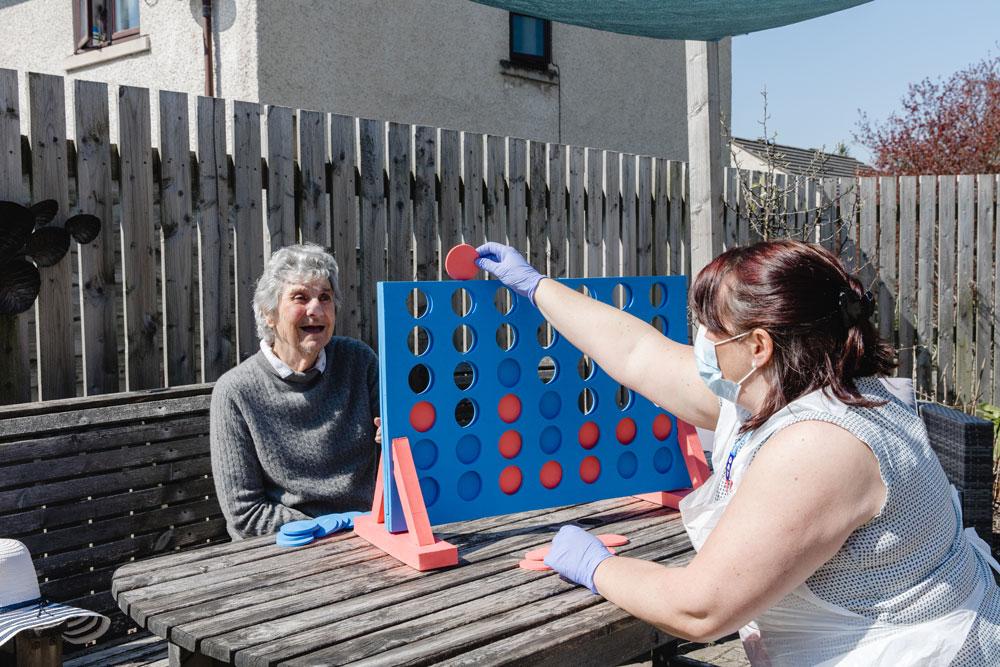 Photo of Liz Brierley in High Brake Garden with resident